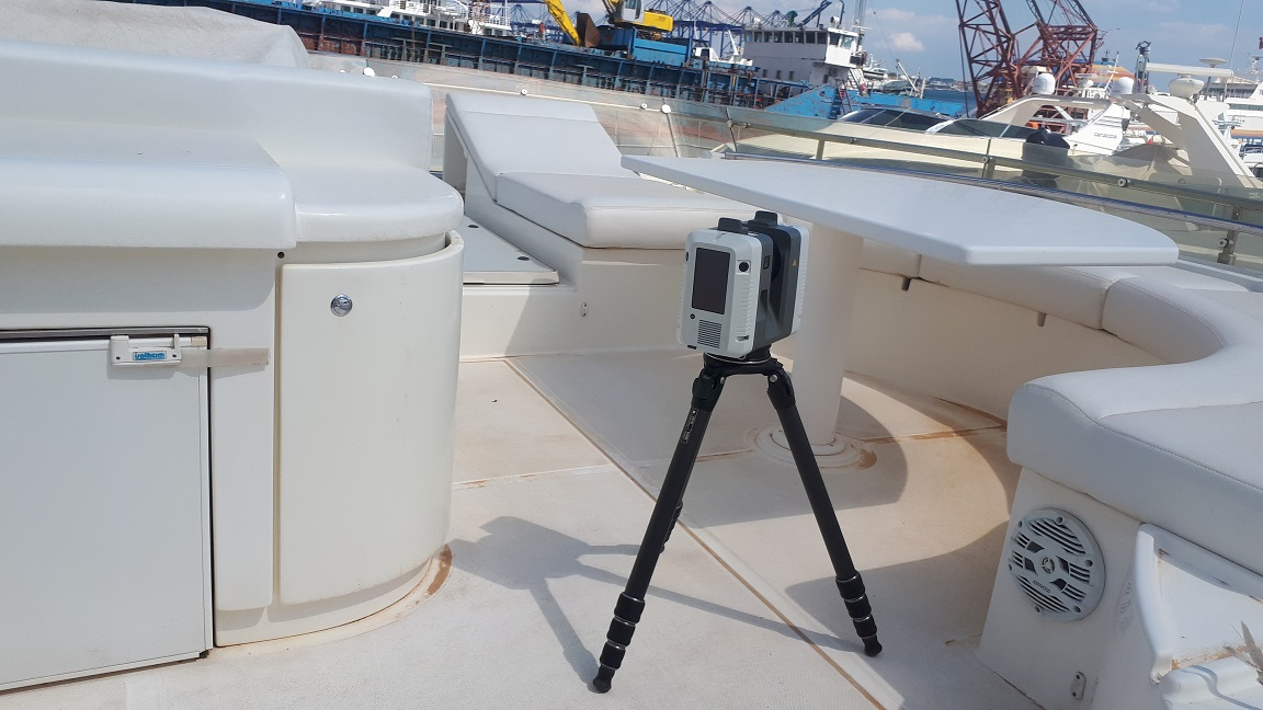 Leica RTC360 / Yacht 3D scanning for deformation inspection