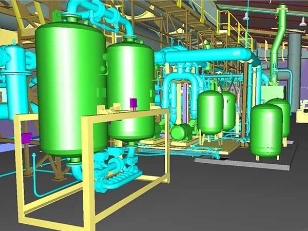 3D model creation of industrial installation