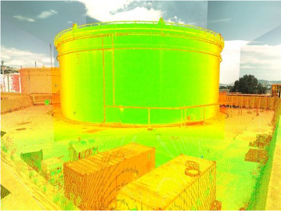 Fuel tank inspection (3d laser scanning)